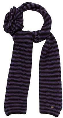 Sonia Rykiel Wool Striped Scarf