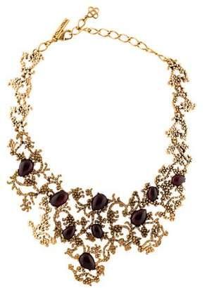 Oscar de la Renta Glass Textured Sculptural Necklace