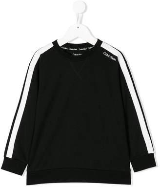 Calvin Klein Kids stripe sleeve sweatshirt
