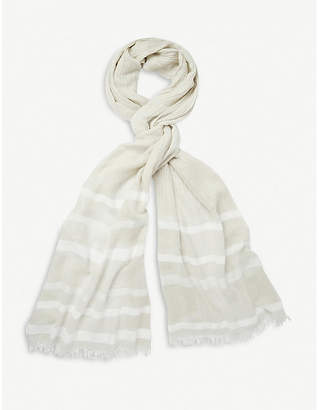The White Company Striped woven scarf