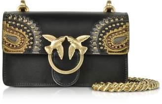 Pinko Black Mini Love Paisley Shoulder Bag