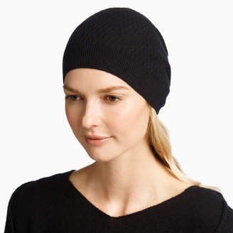 James Perse CASHMERE LADDER STITCH BEANIE
