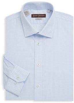Hickey Freeman Non-Iron Gingham Cotton Dress Shirt