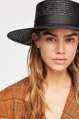 Lack Of Colour Spencer Noir Straw Boater Hat