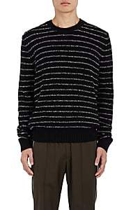 Vince MEN'S STRIPED BOUCLÉ WOOL-BLEND SWEATER