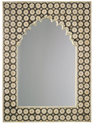 "Jamie Young Taj 36""x48"" Mahal Oversize Mirror - Camel/Black"