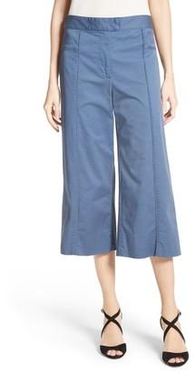 Veronica Beard Women's Cheyenne Wide Leg Crop Pants