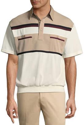 Palmland Short Sleeve Knit Polo Shirt
