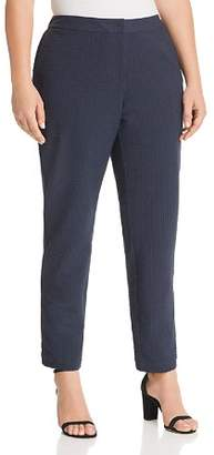 Lafayette 148 New York Plus Manhattan Pinstriped Slim Pants