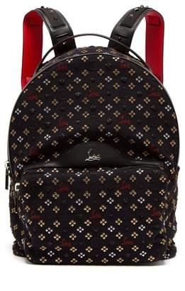 Christian Louboutin Backloubi Metallic Embroidered Backpack - Mens - Black Multi