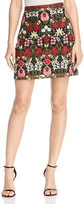 Lucy Paris Marina Embroidered Skirt $78 thestylecure.com