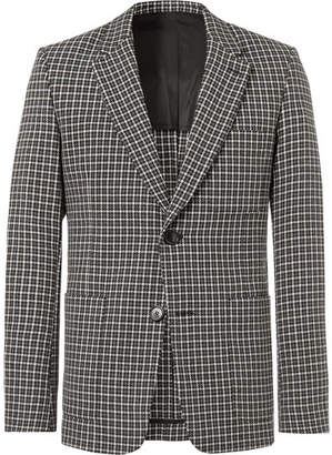 Ami Slim-Fit Checked Wool And Cotton-Blend Blazer