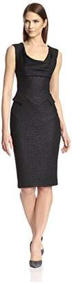 Society New York Women's Drape Neck Jacquard Dress