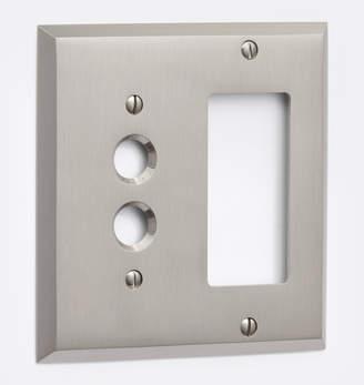 Rejuvenation Lewis Push-Button GFCI Switchplate