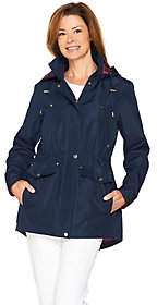 C. Wonder Water Resistant Zip Front Anorak withRemovable Hood