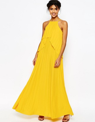 ASOS Ruffle Pleated Maxi Dress $57 thestylecure.com