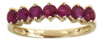 FINE JEWELRY LIMITED QUANTITIES Lead Glass-Filled Ruby 10K Yellow Gold 7-Stone Ring