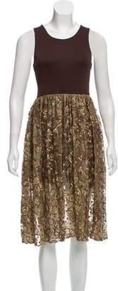 Salvatore Ferragamo Embellished Midi Dress