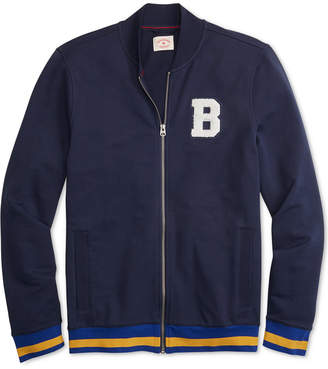 Brooks Brothers Men's Red Fleece Applique Full-Zip French Terry Track Jacket