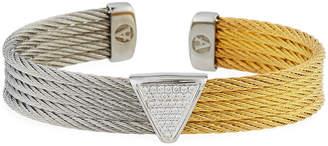 Alor Triangular Diamond Cable Bracelet Two-Tone