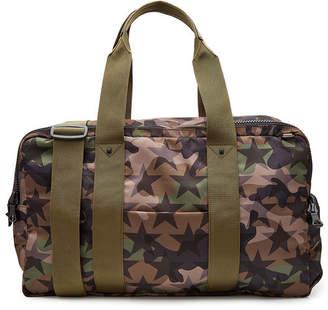 Valentino Camustars Printed Fabric Weekender Bag