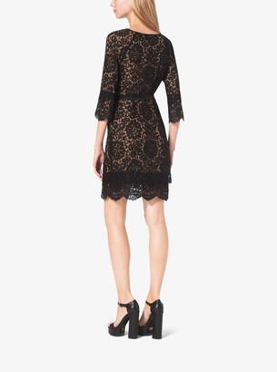 Michael Kors Scalloped-Lace Shift Dress