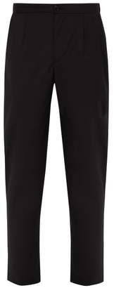 Loro Piana President's Virgin Wool Poplin Trousers - Mens - Black