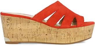 Nine West Suede Wedge Sandals
