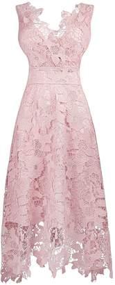 MaliaDress Women Vintage Floral Lace Swing Prom Dress M244LF US