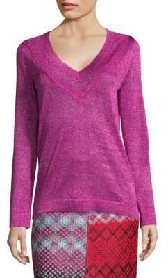 Missoni Metallic Knit Pullover