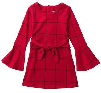 Petit Lem Grid Knit Dress (Toddler & Little Girls)