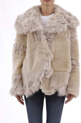 Stella McCartney Jacket Champagne Faux Fur