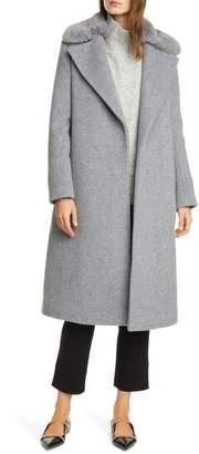 Club Monaco Baylee Removable Faux Fur Collar Wool Blend Coat