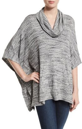 Splendid Brushed Tri-Blend Cowl-Neck Poncho, Heather Gray $138 thestylecure.com