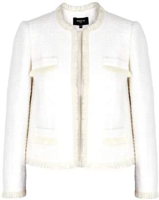 Paule Ka Ivory Fringed Tweed Jacket