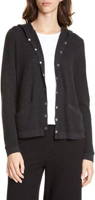 Eileen Fisher Organic Cotton Blend Hooded Cardigan