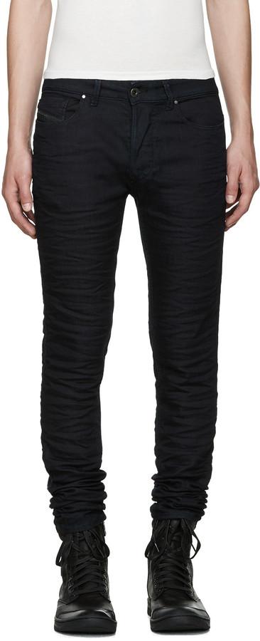 Diesel Black Gold Blue Stretch Skinny Jeans