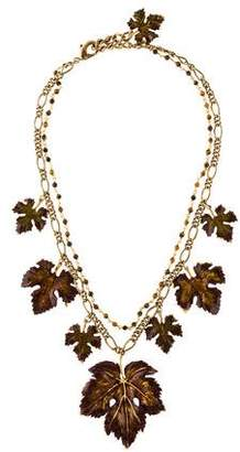 Dolce & Gabbana Enamel Leaf Collar Necklace
