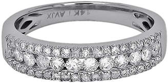JCPenney FINE JEWELRY LIMITED QUANTITIES 1/2 CT. T.W. Diamond 14K White Gold Triple-Row Band