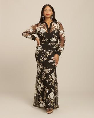 Badgley Mischka Sequin Shirt Dress