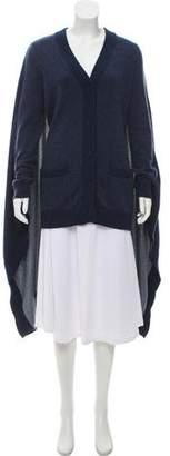 Maison Margiela Draped Long Sleeve Cardigan