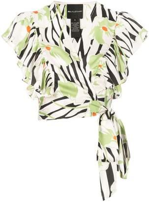Jill Stuart cropped printed blouse