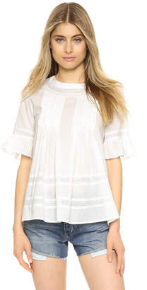 ENGLISH FACTORY Lace Boho Blouse $69 thestylecure.com