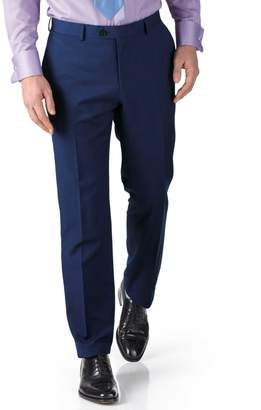 Charles Tyrwhitt Royal Blue Slim Fit Twill Business Suit Wool Pants Size W32 L34