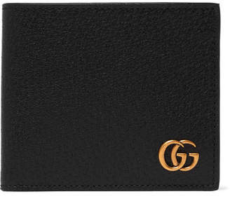 Gucci Marmont Full-Grain Leather Billfold Wallet - Men - Black