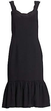 Proenza Schouler Women's Scoopneck Ruffle Hem Dress - Size 0