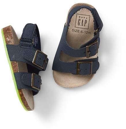 Double-Buckle Sandals