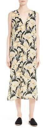 Women's Equipment Connery Print Silk Midi Dress $318 thestylecure.com