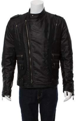 Just Cavalli Quilted Biker Jacket