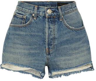 Rag & Bone Maya Distressed Denim Shorts - Mid denim